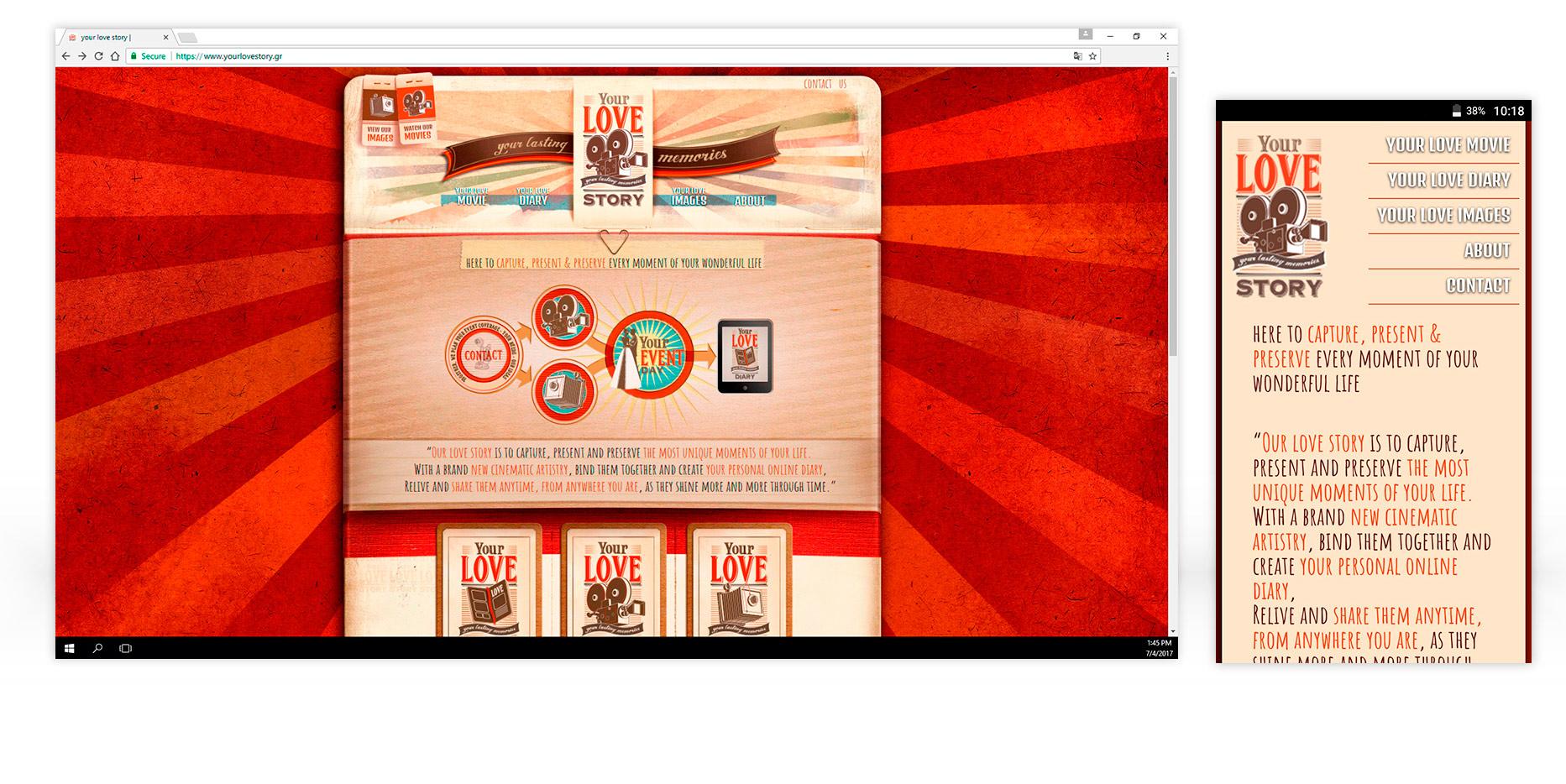 Σχεδιασμός ιστοσελίδας YourLoveStory • adeadpixel