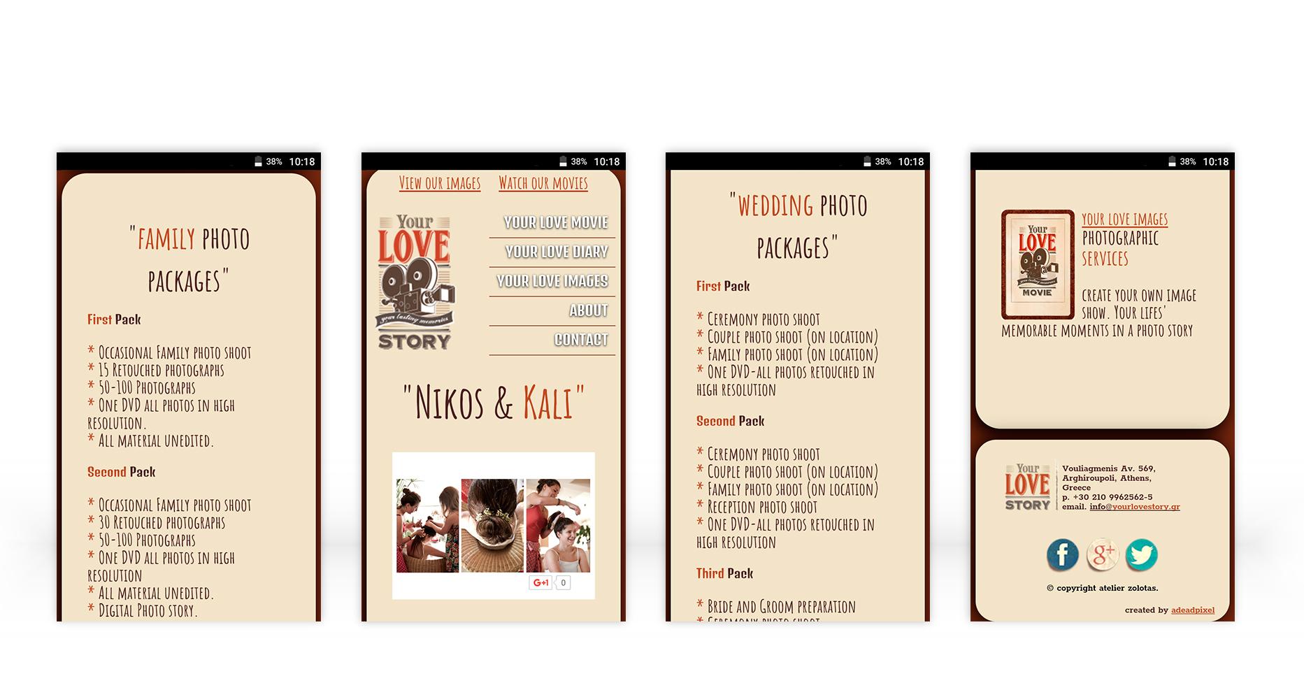 web design YourLoveStory • adeadpixel