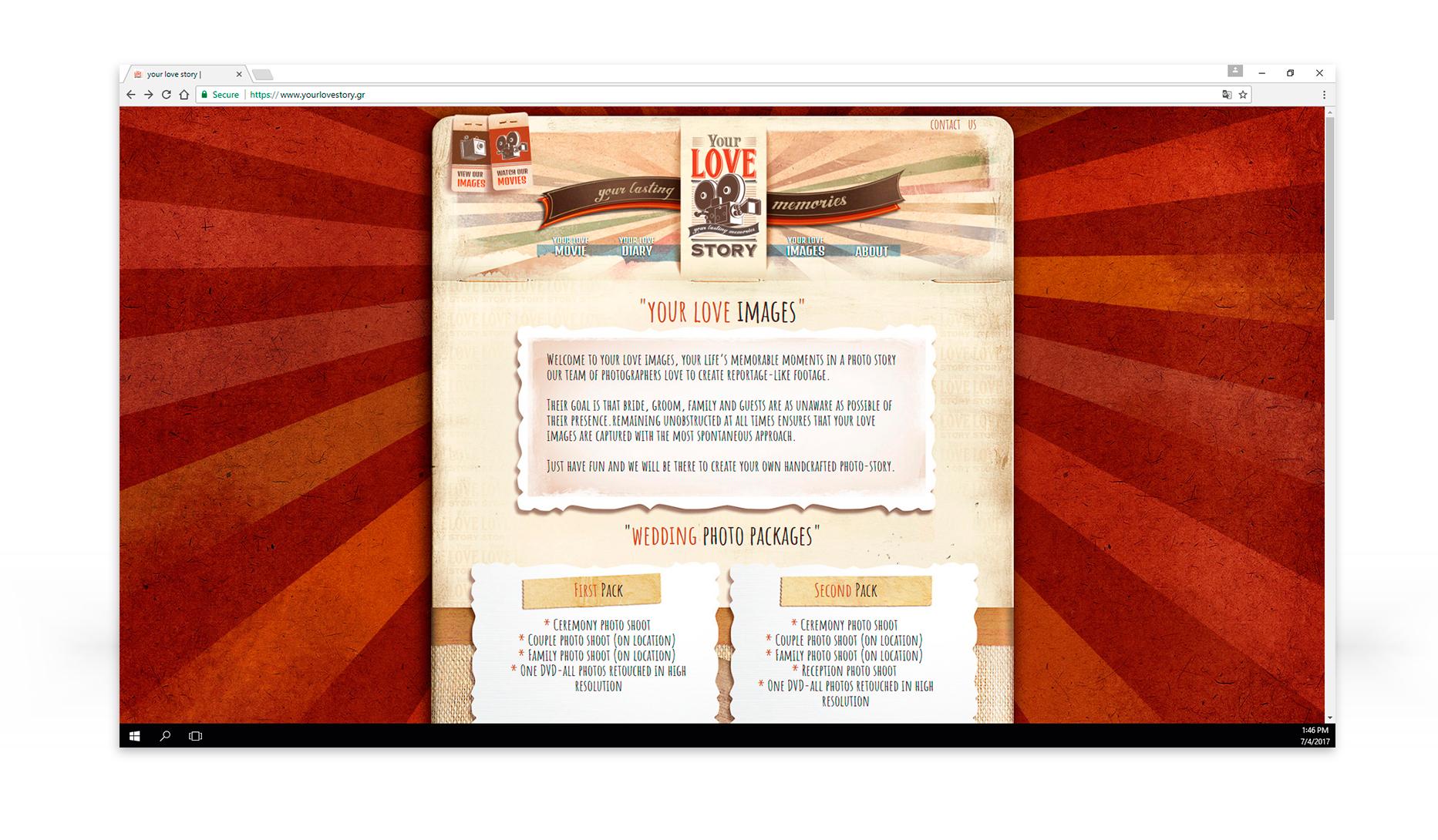 web design & development YourLoveStory • adeadpixel