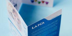 Σχεδιασμός Διαφημιστικών εντύπων Laica • adeadpixel