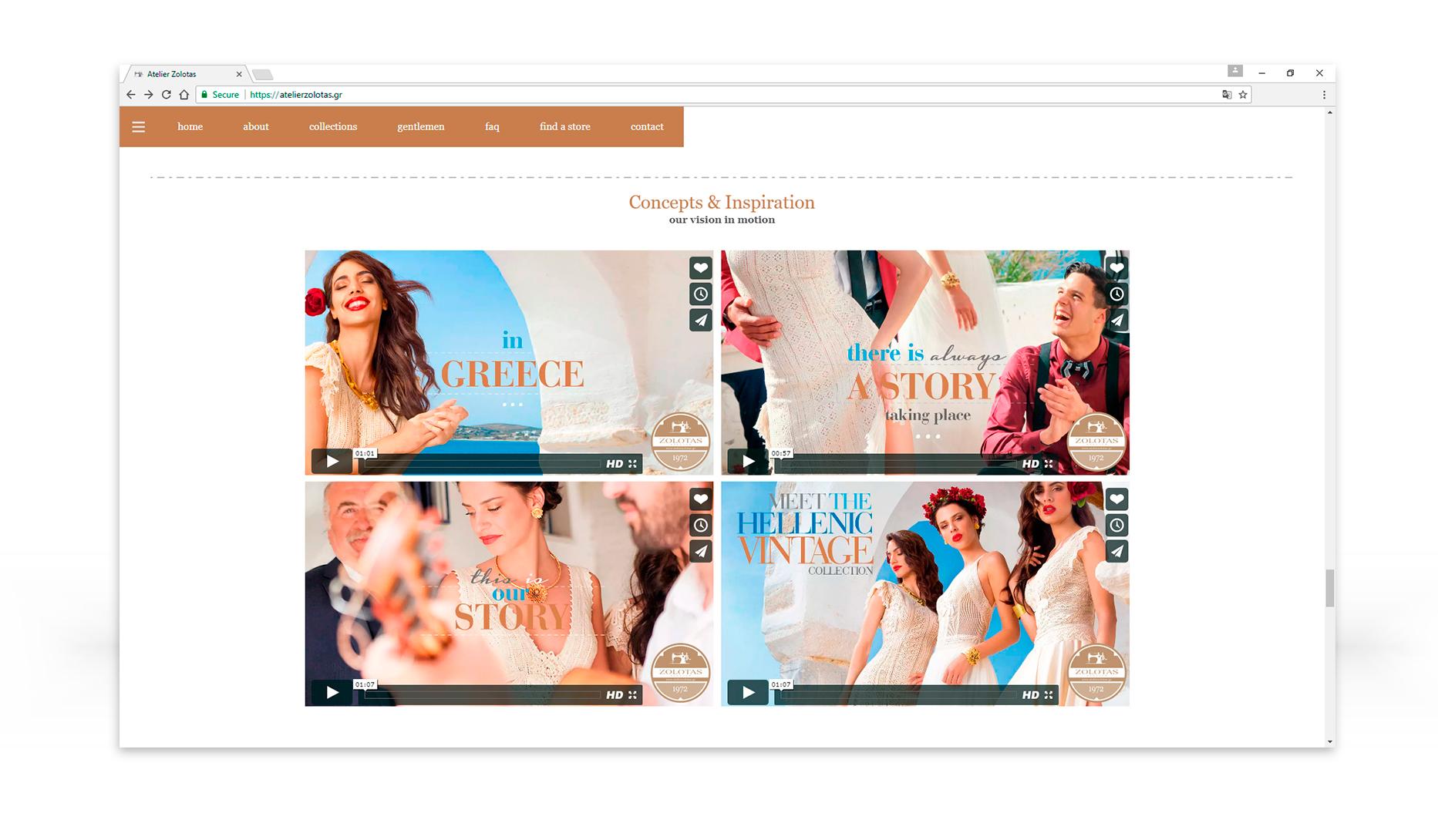 Σχεδιασμός & ανάπτυξη ιστοσελίδας atelier Zolotas • adeadpixel