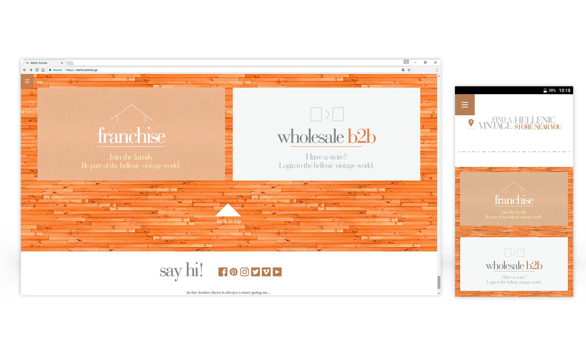 web design & development atelier Zolotas • adeadpixel