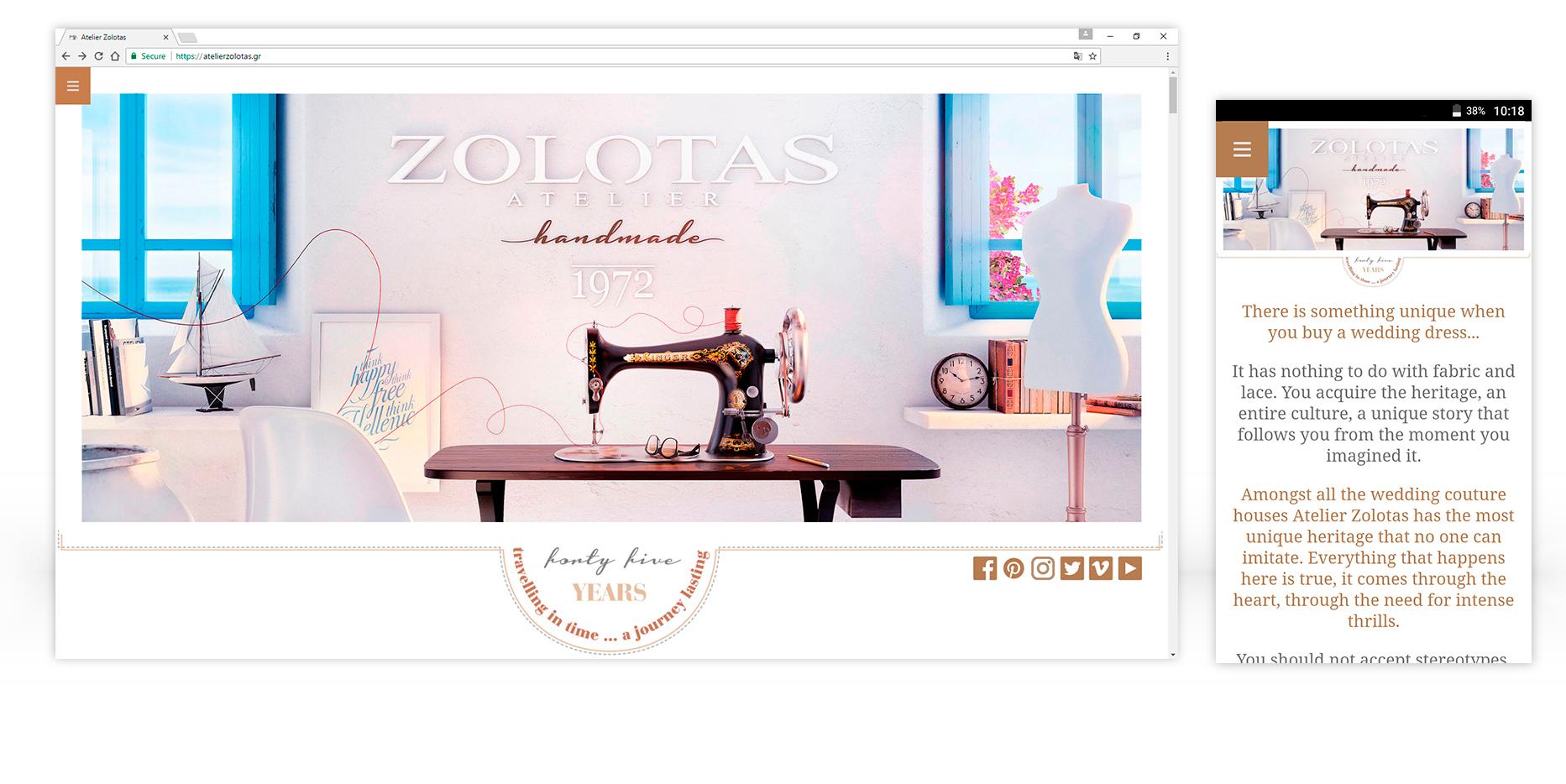 Σχεδιασμός ιστοσελίδας atelier Zolotas • adeadpixel