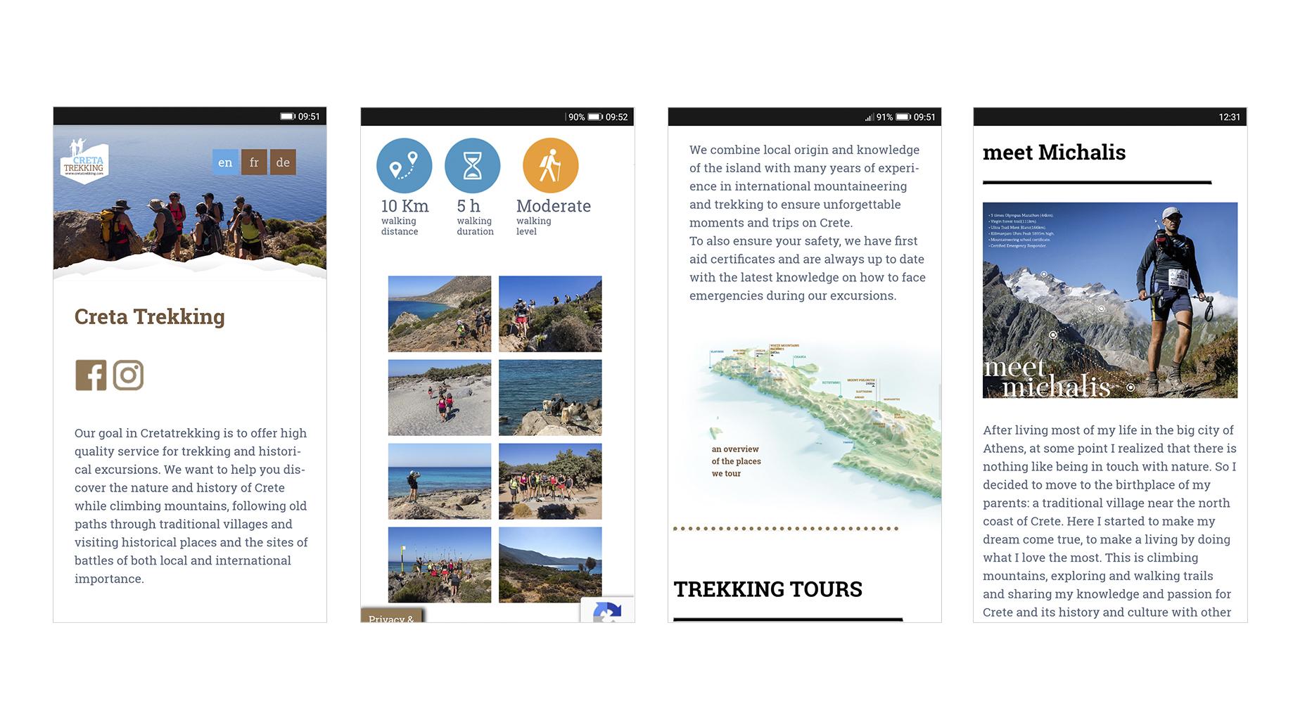 web design CretaTrekking • adeadpixel