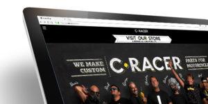 Website Design - Development for c-racer store • adeadpixel